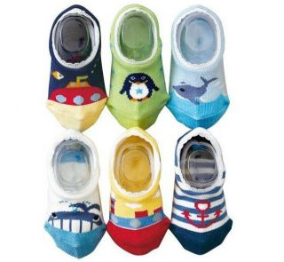 Lots 6 Pairs Unisex Cartoon Baby Toddler Kids Child Anti Skidding Toy Socks