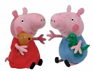 "Large Peppa Pig Soft Plush Toy George Pig Plush Toy 10"" 25cm Fast Postage"