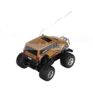 Brown Mini RC Radio Remote Control Car 1 58 Scale Kids Play Games Gift w Hummer