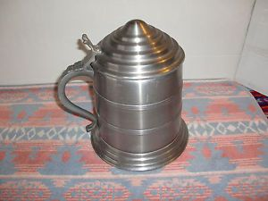 Vintage Metal Tankard German Beer Stein Shaped Nasco Ice Bucket Bottle Cooler