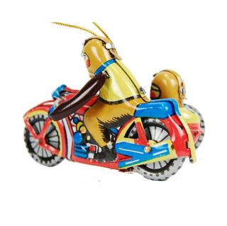 Tin Toy Motorcycle Ornament Retro Style Christmas Tree Decoration Vintage New 3""
