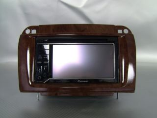 Mercedes Benz s Class W220 03 06 Wood Grain Double DIN Radio Installation Kit