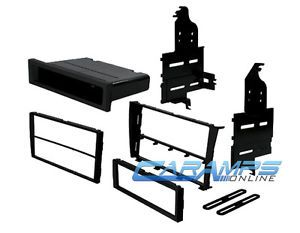 ★single Double DIN Car Stereo Radio Dash Install Mounting Kit Dash Installation★