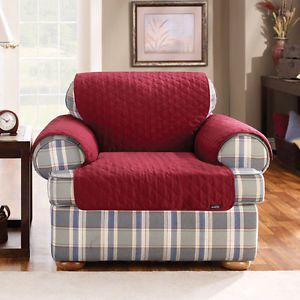 Quilted Arm Chair Pet Dog Cat Seat Cover Red