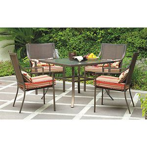 New 5 Piece Outdoor Dining Set Patio Furniture Seats 4 Chairs Table Deck Pool