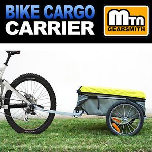 New Large Heavy Duty Steel Frame Bike Bicycle Cargo Carrier Trailer Cart