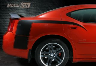 Dodge Charger Hockey Stripes Decal Kit 2006 2010 Hemi