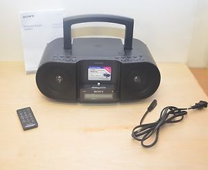 Sony ZS S3IPN Am FM Radio CD Player Boombox with iPod iPhone 5 Lightning Dock