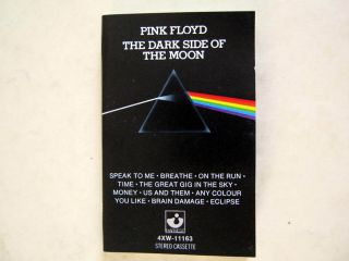 Pink Floyd The Dark Side of The Moon U s Harvest Cassette Album 4XW 1113