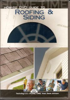Home Time Dean Johnson Roofing Vinyl Siding Shingle DVD