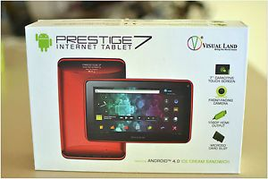 Prestige 7 inch Visual Land Internet Tablet Red
