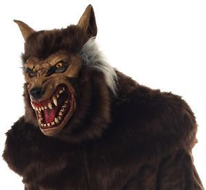 Halloween Horror Movie Prop Werewolf Mask Werewolf Deluxe Mask