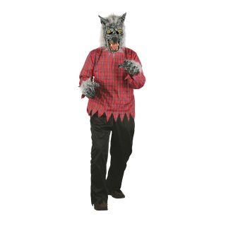 Grey Wolf Costume Animal Little Red Riding Hood Werewolf Men Women Easy