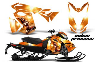 Ski Doo Rev XS MXZ Renegade Snowmobile Sled Graphics Kit Wrap Decal Creatorx IP