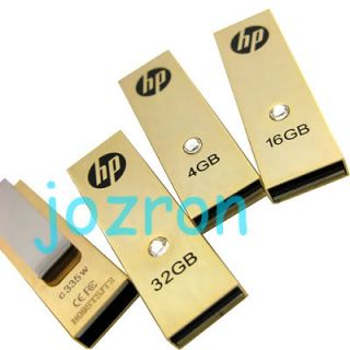 HP C335W 4GB 4G USB Flash Drive Gold Swarovski Crystal