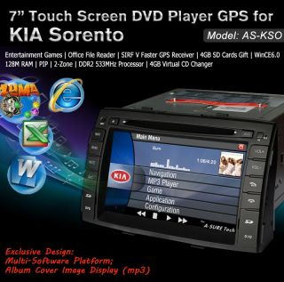 3G Internet Car DVD GPS Navi BT Pip Autoradio for Kia New Sorento 2010 2011 2012