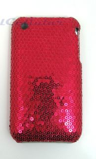 New iPhone 3G Hot Pink Sequin Sparkly Bling Case Cover