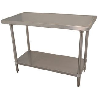 A Line by Advance Tabco Chefs Prep Table with Stainless Steel Top