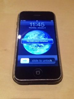 Apple iPhone 1st Gen 8GB Black at T Good Condition Malfunctioning Screen 885909128525