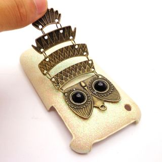 Bid Bling White Case Owl Style Cover for iPhone 3G 3GS
