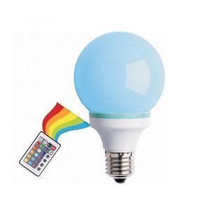 Multi Color Changing LED Light Bulb with Remote Control Fun Lighting Effect