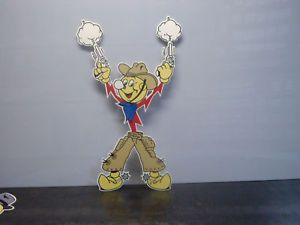 Reddy Kilowatt Power Light Bulb Electric Lineman Sign