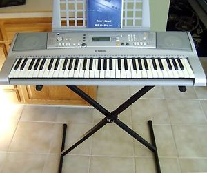 Yamaha YPT 300 Full Size Portable Keyboard with Stand Power Adapter 086792285542