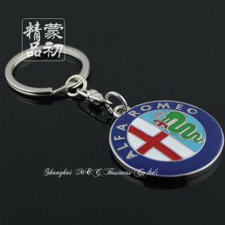 3D Alfa Romeo Car Logo Keychain Keyring Key Chain Ring