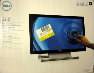 "SEALED New Dell S2240T 21 5"" Widescreen LED LCD Multitouch Touch Screen Monitor 884116114130"