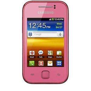 New Samsung Galaxy Y S5360 S5363 Unlocked GSM Android Cell Phone Pink 8806071788159