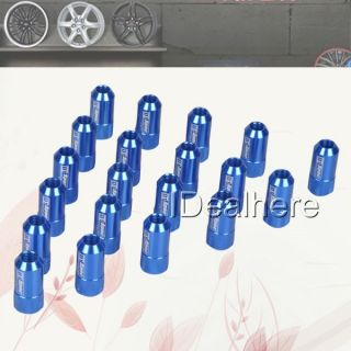Blue 20 Pcs Set 12x1 5mm Wheel Rim Racing Locks Lug Nut Nuts