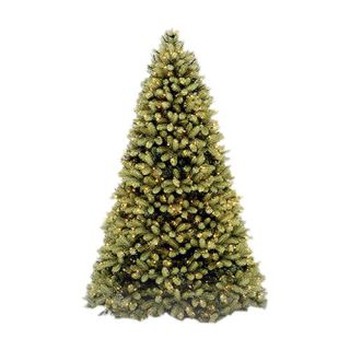 National Tree Co. Douglas Fir 9 Green Evergreen Fir Artificial Christmas Tree with 900 Pre Lit Clear Lights with Stand