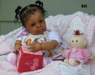 "Beautiful Reborn Ethnic Biracial Toddler Baby Girl Doll ""Chanel"" by Donna RuBert"