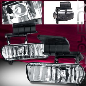 1999 2006 Chevy Silverado Suburban Tahoe Pickup Truck Chrome Fog Light Bulbs