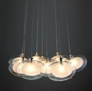 10 Lights New Modern LED Double Bubble Glass LED Ceiling Lighting Pendant Lamp