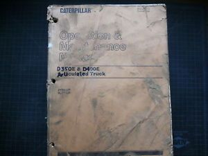 Cat Caterpillar D350E D400E Dump Quarry Rock Truck Operation Operator Manual