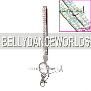 Bling Rhinestone Crystal Custom Lanyards Wristlets Key Chain Holder Phone Strap