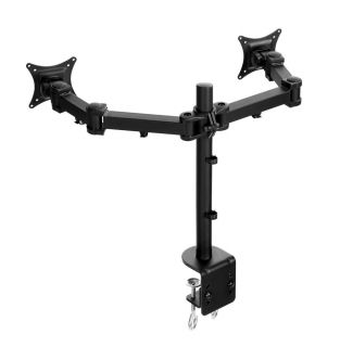 2 Dual Two LCD Monitor Screen Table Desk Mount Stand 27 26 25 24 23 22 21 Inch