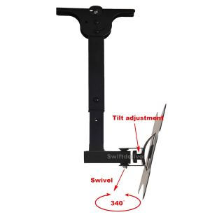 "LCD LED TV Monitor Tilt Swivel Wall Ceiling Mount Bracket 23 24 26 27 32 37"" 1LH"