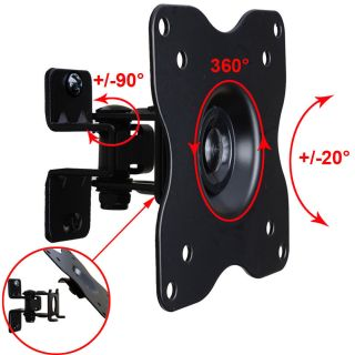 Tilt Swivel TV Monitor Wall Mount 15 17 19 20 22 23 24 26 27 LCD LED Bracket 1FF