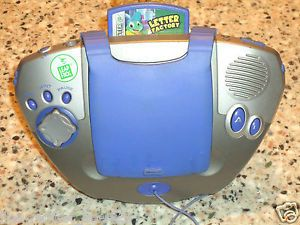 Blue Silver Leap Frog Leapster Educational Learning Game System Letter Factory
