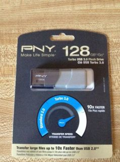 Brand New PNY 128GB Turbo Flash Drive USB 3 0 P FD128TBOP GE