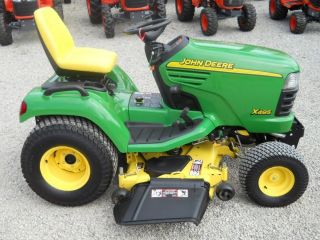 "John Deere X495 Garden Tractor Liquid Cooled Diesel 54"" Cut PS Very Nice"