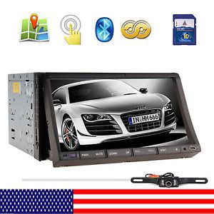 "IR2230 GPS Map Camera Double DIN in Dash 7"" Car Stereo DVD Player Radio BT iPod"