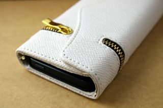 Leather Zipper Wallet Card Holder Flip Magnetic Hard Case Cover for iPhone 5
