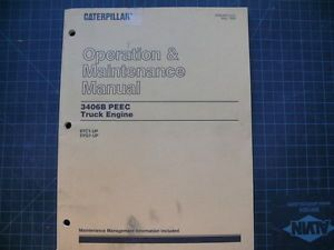 Cat Caterpillar 3406B Engine Operation Operators Maintenance Manual Guide Shop