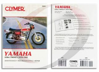 1975 1982 Yamaha XS650 Repair Manual Clymer M403 Service Shop Garage