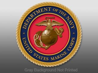 US Marine Corps Seal Sticker Logo USMC Decal Marines