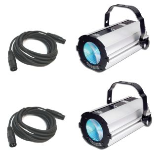 2 Vue 1 1 Moonflower Effect Color LED Chauvet DJ Light w DMX Cables Package