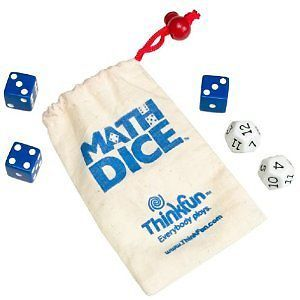 Think Fun Math Dice Addition Subtraction Multiplication Division Game for Kids